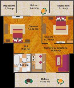 Ap.8 - Suprafață utilă: 53 mp + 31 mp terasă       65.000 euro